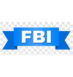 Blue stripe with fbi caption vector