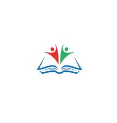 Book students kids open hands logo icon vector