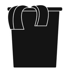 box dirt clothes icon simple style vector image