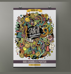 Cartoon doodles idea poster vector