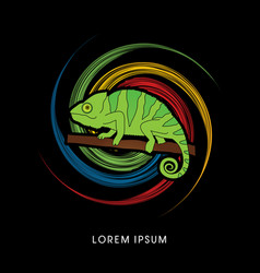 Chameleon graphic vector
