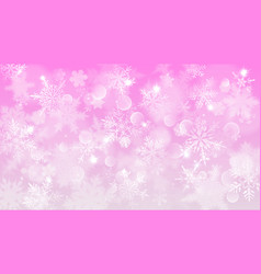 christmas background of blurred snowflakes vector image