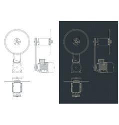 circular saw drawings vector image