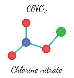 ClNO3 chlorine nitrate molecule vector