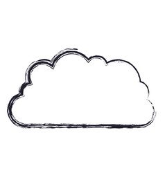 Cloud storage data service icon in blurred vector