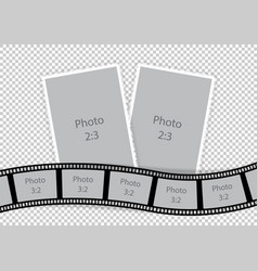 Collage of photo frames from film template ideas vector