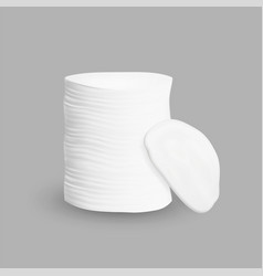 Cotton pad stack cleaning face cosmetic vector