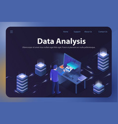 data analysis isometric vector image
