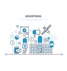 digital advertising marketing media planning vector image