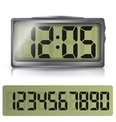 Digital alarm clock classic digital clock vector