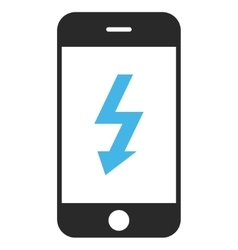 Electric Smartphone Eps Icon vector