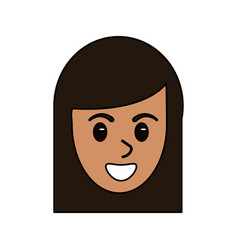 Face head woman female avatar design vector