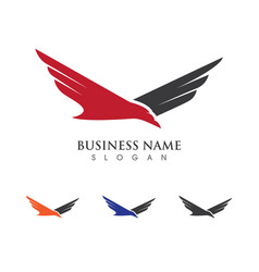 Falcon logo template vector