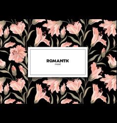 Floral pattern flower card background flourish vector