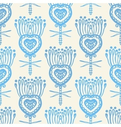 Floral pattern with ethnic indian motifs vector image