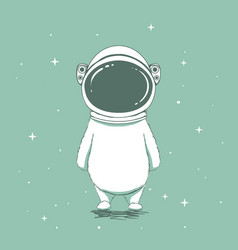 funny astronaut bear vector image