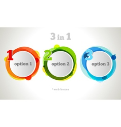 Graphic Design Button and Labels Template vector image