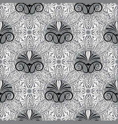 Greek floral seamless pattern vector