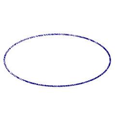 Grunge textured ellipse frame vector