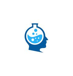 head science lab logo icon design vector image