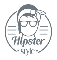 Hipster style logo simple style vector