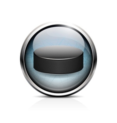 hockey puck icon vector image
