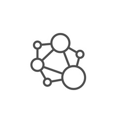 Integrity line icon social network sign core vector