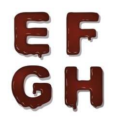 latin capital alphabet letters of chocolate vector image