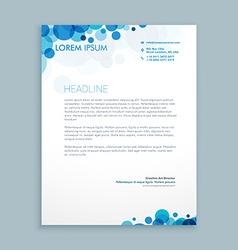 Letterhead creative template vector