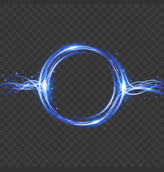light effect energy flow magic frame vector image