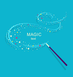 Magic wand background vector