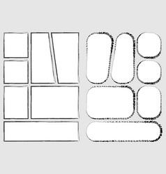 Manga set storyboard layout template vector