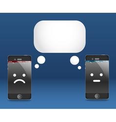 Modern phones with speech cloud Conversation vector image