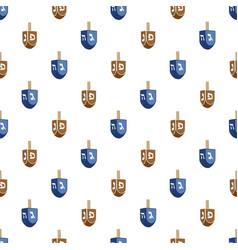 on theme big colored pattern dreidel vector image