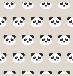 Panda faces seamless pattern vector