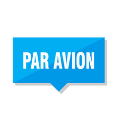Par avion price tag vector