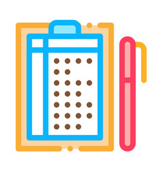 pen and list icon outline vector image