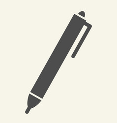 pen solid icon ink isolated vector image