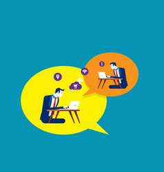 people who communicate on internet graphic vector image