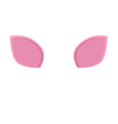 pig ears back vector image