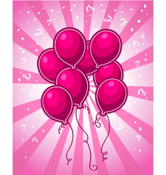 Pink Party Balloons vector image