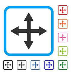 Quadro arrows framed icon vector