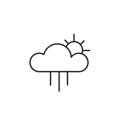rain with sun icon vector image