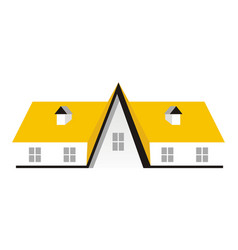 real estate roof vector image