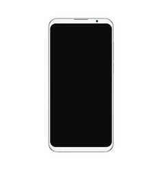 realistic trendy white smartphone mockup vector image