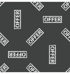 Rubber stamp OFFER pattern vector image