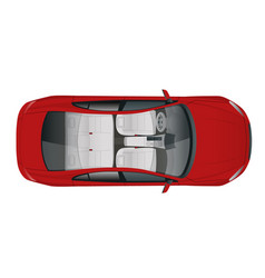 Salon car sedan view from above vector