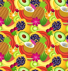 seamless pattern tropical fruit vector image