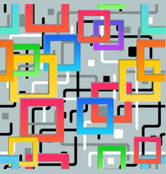 seamless texture abstract geometric pattern vector image