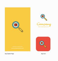 search item company logo app icon and splash page vector image